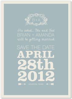 great site for cute save the dates @Jessi Jones