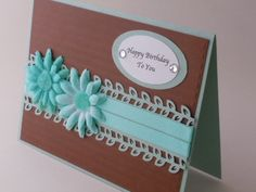 HANDMADE CARDS FABRIC FLOWER - Google Search