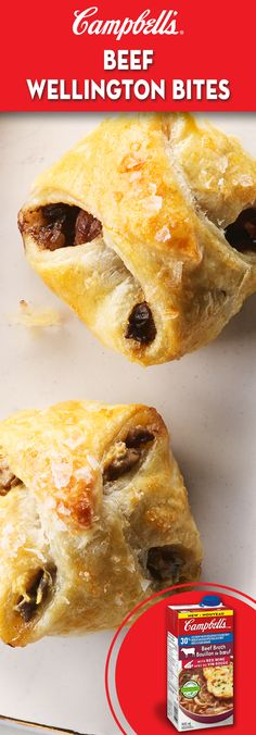 All the flavours of Beef Wellington made into this bite sized melt-in-your-mouth morsels. Perfect for holiday entertaining. Brunch Recipes, Appetizer Recipes, Beef Appetizers, Brunch Food, Sandwich Recipes, Mini Beef Wellington, Chicken Wellington, Beef Wellington Recipe, Beef Recipes