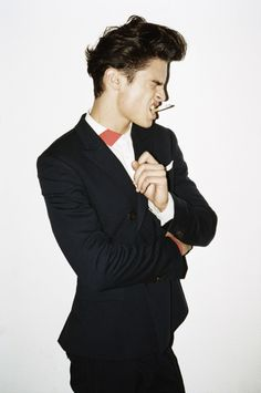 Baptiste Giabiconi photographed by Matthew Brookes for Bamba Magazine May 2011 styled by Christian Stroble