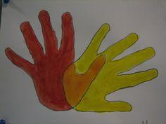 Pääväri ja väliväri -kädet.