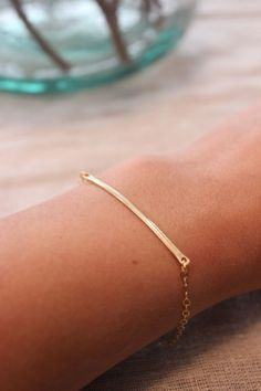 Mother's day gift guide: HAMMERED BAR BRACELET // $34 @shopisabelle.com