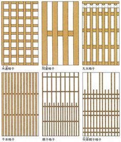 日本大百科全書(ニッポニカ) - 格子の用語解説 - 木、竹、金属などを直角に碁盤目(ごばんめ)に組んだもの。組格子ともいう。古くは子(かくし)とよんだ。建具では蔀(しとみ)や引違い戸、あるいは嵌殺(はめころ)しとして用いられた。桟の間を透かすものや、裏に薄板を張るものもある。本来、格...