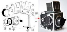 cardboard camera parts