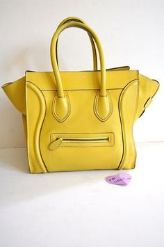 Must-have Celine mini luggage bag on sale at Lollipuff. In citron ...
