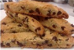 Barras de chispas de chocolate (Biscotti) - Recetas Judias