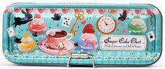 kawaii macaron tea cup pencil case Crux Japan tin case