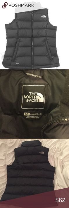 North Face Women's Nuptse Vest, Black Size: Small 700 fill down North Face Nuptse vest! Never been worn, bought at full price and just sat in my closet :). Super warm. Black and women's size small. 100% polyester North Face Jackets & Coats Vests