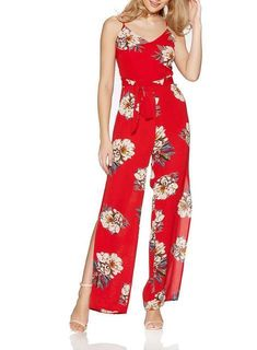 90ccad56c826 LOVE ISLAND QUIZ RED OR WHITE FLORAL SPILT LEG PARTY JUMPSUIT UK 12 NEW RP  35  fashion  clothing  shoes  accessories  womensclothing  jumpsuitsrompers  (ebay ...