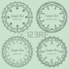 Set Of Four Round Frame Royalty Free Cliparts, Vectors, And Stock Illustration. Pic 13566657.