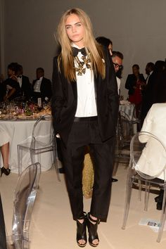 Love Cara's statement necklace with a classic tux #tuxrevolution
