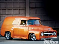 1956 ford f100 panel truck hot rod