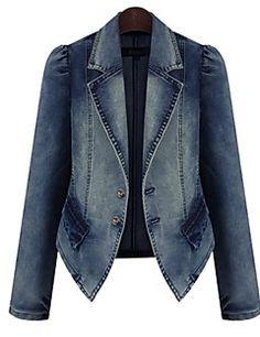Brown b414 Intelligent Jordache Womens 3 Button Blazer Sz Xl Cotton Blend