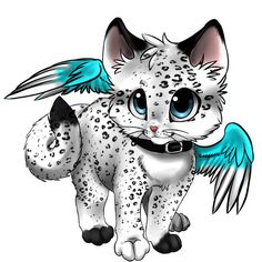 48 New Ideas For Anime Art Drawings Kittens Cute Fantasy Creatures, Mythical Creatures Art, Cute Creatures, Cute Animal Drawings, Kawaii Drawings, Chat Kawaii, Anime Cat, Anime Animals, Cat Drawing