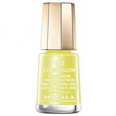 Mavala nail polish in Cyber Yellow
