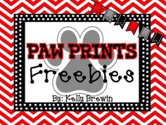 """This is a shout out to all my Kinder Kittens, Panthers, and Wildkittens!  Thank you for the support!  Enjoy!This set contains:WELCOME bunting banner5 styles of labels (various sizes)4 styles of desk/name plates (3""""x10"""")Please remember to RATE & FOLLOW me!Check my store for more of your favorite Paw Print items!"""