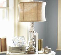 Leera Antique Mercury Glass Table Lamp Base