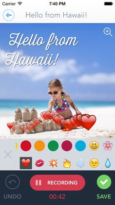 Great app to let your kids take the family vacation photos and easily turn them into slide shows and videos.