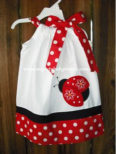 Red Ladybug Pillowcase dress by mycutebabystore1 on Etsy, $26.50