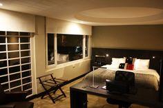 Suite Deluxe #MidCenturyModern Midcentury Modern, Corner Desk, Boutique, Gallery, Furniture, Home Decor, Home, Architecture, Corner Table