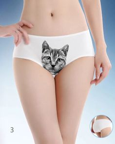d8fc2eb87ee9 Custom CHARCOAL GRAY TABBY (S/M) Pussycat Kitten Kitty Panties Sexy  Lingerie Underwear Cat Print Briefs by PurMePanties on Etsy