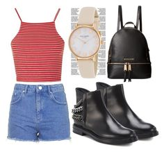"""""""Grunge"""" by zafirahx ❤ liked on Polyvore featuring Topshop, MICHAEL Michael Kors, Casadei, Kate Spade and grunge"""