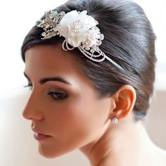 Vintage Rose Side Tiara from Glitzy Secrets