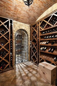 Traditional Wine Cellar Photos Design, Pictures, Remodel, Decor and Ideas - page 23 Wine Glass Rack, Wine Rack, Billard Bar, Cave A Vin Design, Caves, Wine Cellar Basement, Home Wine Cellars, English Manor Houses, English House