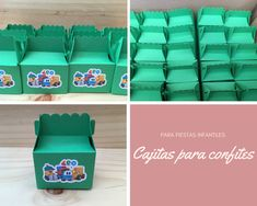 Cajitas pequeñas para confites , ideales para fiestas infantiles Small Boxes, Creative Crafts, Parties Kids, Creativity
