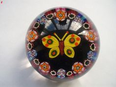 Paul Ysart 1930`s Butterfly paperweight Sold £770