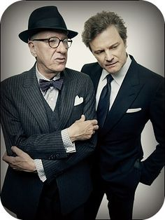 Two icons - Geoffrey Rush and Colin Firth