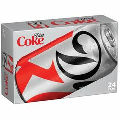 Diet Coke Cola, 12 fl oz, 24 pack