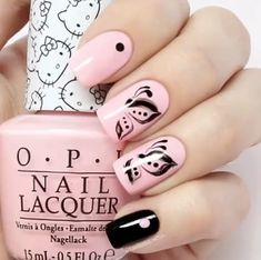 Butterfly design nails