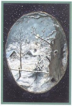 Tasha Tudor Mint Print Winter Calm from The Night Before Christmas