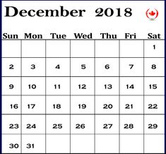 December 2018 Calendar Printable  #Calendar2018December