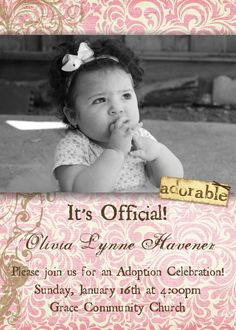 Instead of having a baby shower, have a party once the adoption is finalized Adoption Baby Shower, Adoption Party, Adoption Quotes, Adoption Stories, Foster Care Adoption, Foster To Adopt, Ado Love, Adoption Agencies, Gotcha Day