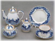 Blue Rhapsody Tea Set 21 pcs