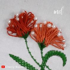 hand embroidery stitches tutorial step by step Hand Embroidery Flower Designs, French Knot Embroidery, Hand Embroidery Videos, Embroidery Stitches Tutorial, Hand Work Embroidery, Creative Embroidery, Learn Embroidery, Silk Ribbon Embroidery, Embroidery Ideas
