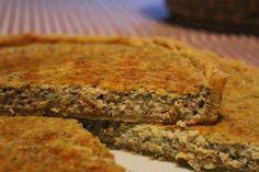 Τάρτα με μανιτάρια και παρμεζάνα | Live To Bake Mushroon and parmesan quiche www.livetobake.gr
