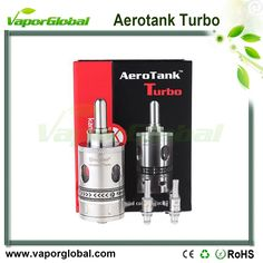 1:1 Clone Aerotank Turbo Clearomizer The Aerotank Turbo Two Dual Coil Clearomizer. The Aerotank Turbo features food grade Stainless Steel body with a durable glass inner tank. The main feature of the Aerotank Turbo are two Dual Coils which deliver higher vapor production.