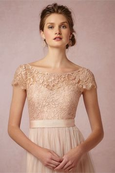 Camille lace topper from BHLDN