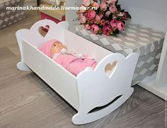 Детская ручной работы. Ярмарка Мастеров - ручная работа. Купить Кроватка для кукол. Handmade. Белый, кроватка для куклы, кровать для куклы