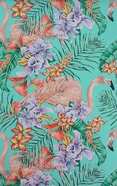W6800-01 ( W680001 ) Flamingo Club Cubana Wallpaper by Matthew Williamson