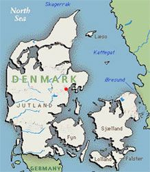 Aarhus, Denmark.My mother spent her summers in Arrhus, Danmark with her Aunt and Uncle. VERY pretty city