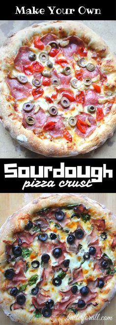 Get the recipe and learn the basic technique for making delicious Chewy Sourdough Pizza Crust. Click to visit the ButterForAll blog and get started.