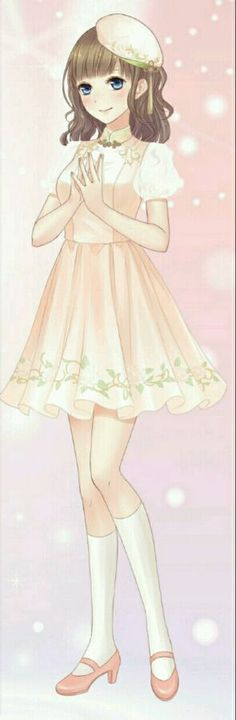 Anime Girl in a beautiful dress