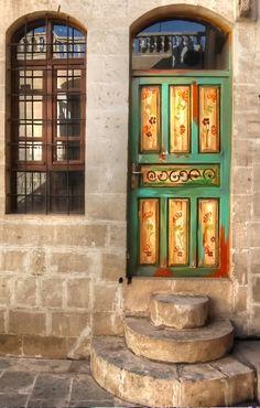 Courtyard decor in Sanliurfa, Turkey   ..rh