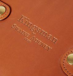 KINGSMAN  SWAINE ADENEY BRIGG LEATHER WASH BAG  £362.09/ Approx.RM2,034