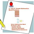 Subtraction Math Worksheets for 1st and 2nd Grade. Based on Singapore Math curriculum.  Children learn to solve word problems using subtraction math concept; including number bonds and model method.