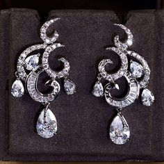 Zircon Earring JHZ-275 USD48.97, Click photo to know how to buy / Contact me for discount, follow board for more inspiration